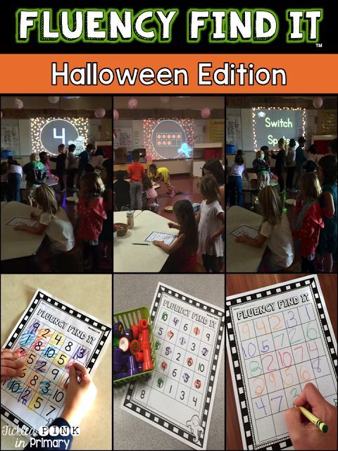 Halloween Fluency Find Its get students up and moving, working in teams, and working on important literacy and math skills. Each bundle has 5 games and 1 editable game!