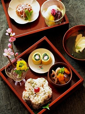 Early Spring Bento Box Style Japanese Cuisine|早春のお弁当
