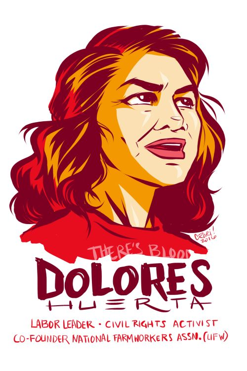 #100Days100Women Day 29: Dolores Huetra, labor leader, civil rights activist, and co-founder of what would become the United Food Workers. https://en.wikipedia.org/wiki/Dolores_Huerta