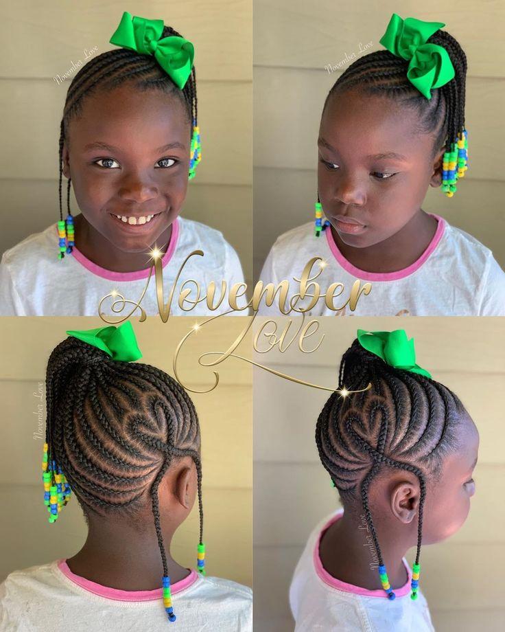 "Feb 2, 2020 - November Love on Instagram: ""Children's Braids and Beads! Booking Link In Bio! #ChildrenHairStyles #BraidArt #ChildrensBraids #BraidsAndBeads #kidsbraidsatl…"""