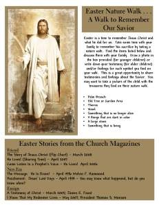 A Christ Centered Easter with church magazine story references