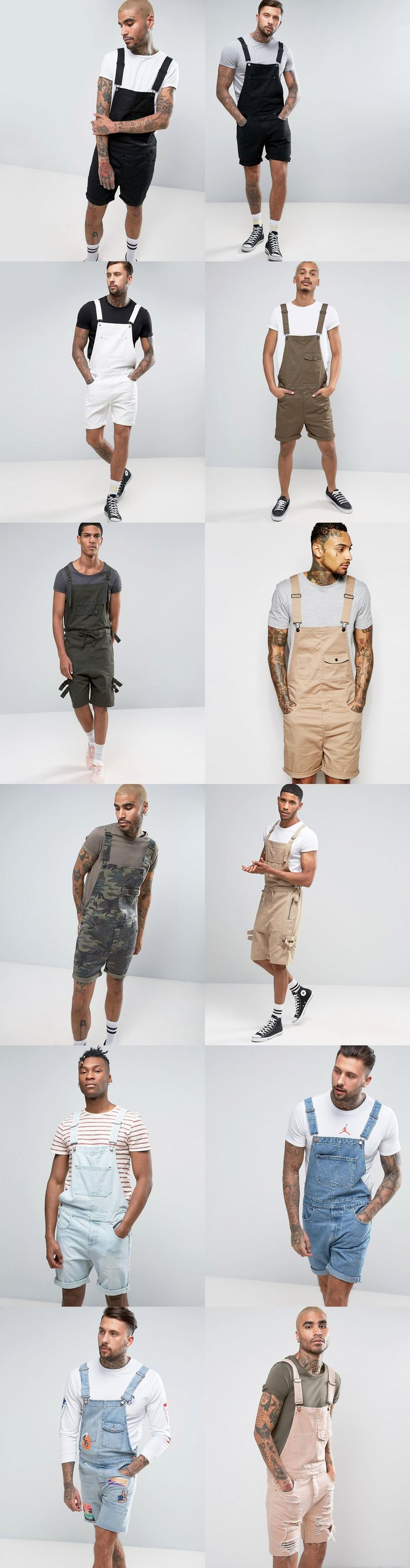 12 Trendy Short Overalls - ASOS menswear shuts down the new season with the latest trends and the coolest products, designed in London and sold across the world. Update your go-to garms with the new shapes and fits from ASOS design team, from essential tees to on-point outerwear, and jeans from skinny to straight and beyond.
