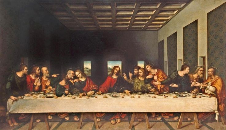 Leonardo da Vinci. The Last Supper. 16th century copy