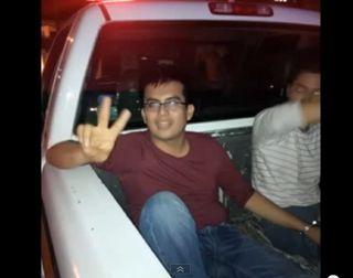 """""""ATORADOS"""" LOS JUNIORS DE TABASCO Atropellan a policía y se tratan de fugar"""