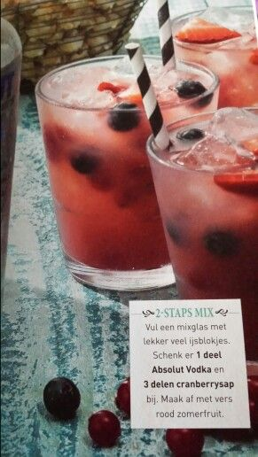 Cocktail vodka cranberrysap