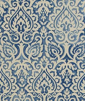 Waverly Parterre Sun N Shade Indigo Fabric - $9.8 | onlinefabricstore.net: