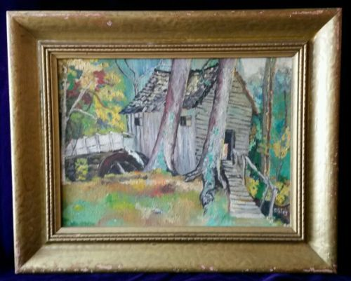 Pin By Mona Mae On Backgrounds: 1950-1969-Mae-Sibley-original-landscape-oil-painting-13-x