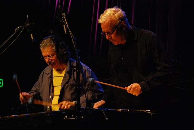 Gary Burton and Chick Corea. Vibes for four hands! Photo by Shaukat Husain.