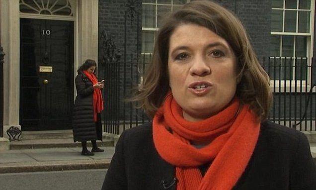 Sky News reporter's doppelganger outside Downing Street