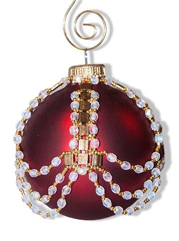Tila & Crystal Beaded Ornament Cover Pattern at Sova-Enterprises.com