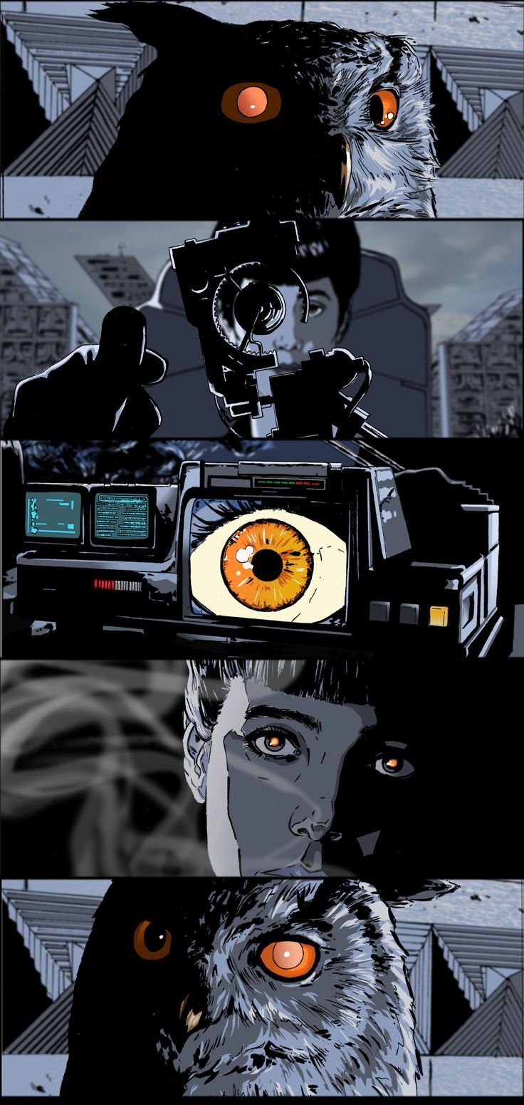 Blade Runner Sequential Comic Art Illustration - artist unknown