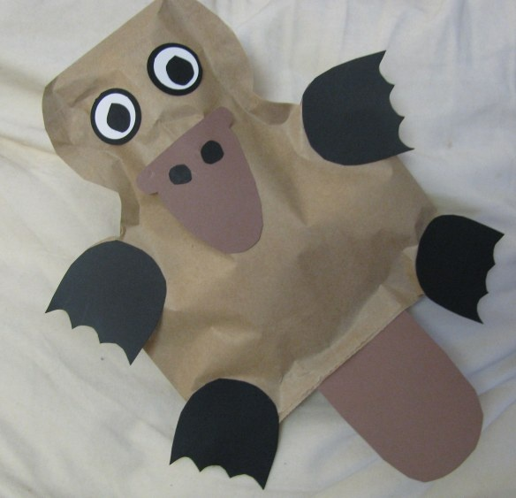 Letter P Platypus craft! No instructions but it looks easy enough to make. Cute