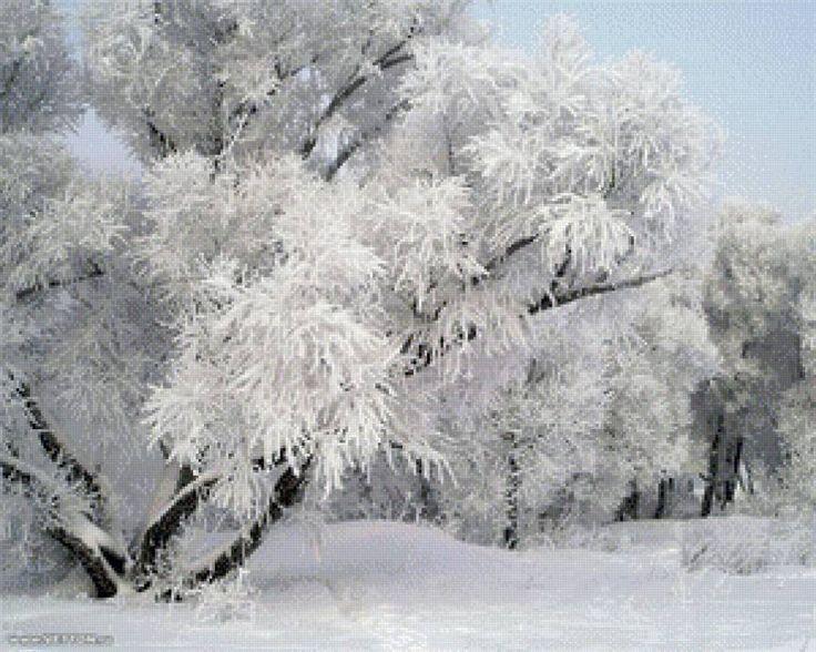 Зима - Схемы вышивки - Хоня
