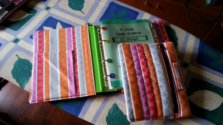 Copri raccoglitore A5 e porta penne abbinato. (Fanno parte di un set coordinato)  #EliderCreation, #Handmade, #Sewing, #Cucito