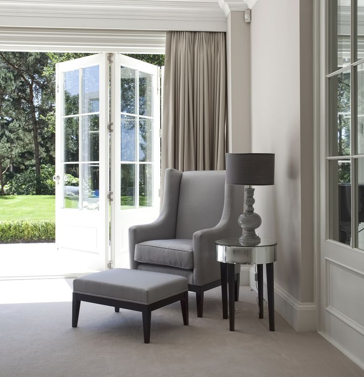 #Retreat room with folding doors in this #coastal style #home interior