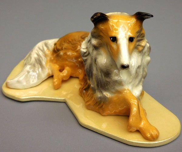 Hagen Renaker Miniatures Collie Figurine On Base Item 01006 Ebay Link Miniature Collie Glass Animals Lion Sculpture