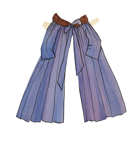 Manteau cape pour Paper Doll, par Yves Saint Laurent