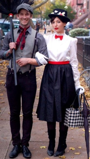 Mary Poppins, easy Halloween costumes for brunettes