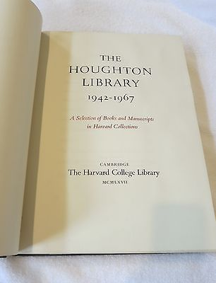 The-Houghton-Library-1942-1967-Harvard-College-Collectible-First-Edition-Book