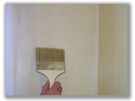 Faux painting walls - antiqued plaster. I need to learn this for my kitchen & dinning room walls...