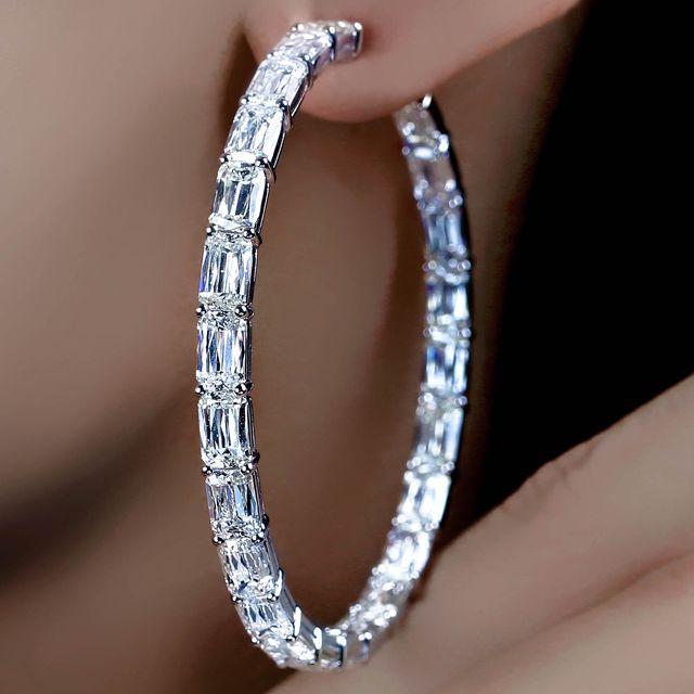 ASHOKA® Diamond Large Hoop Earrings by William Goldberg