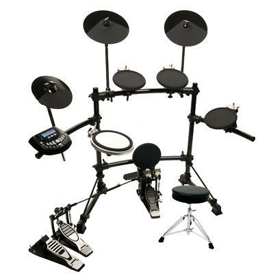 dkx 580 usb digital electronic drum set w double bass pedal throne by dkx dkx 580. Black Bedroom Furniture Sets. Home Design Ideas