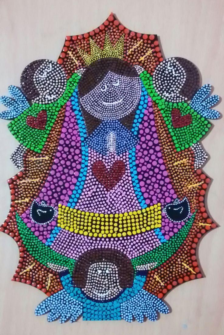 Puntillismo: Virgen de Guadalupe