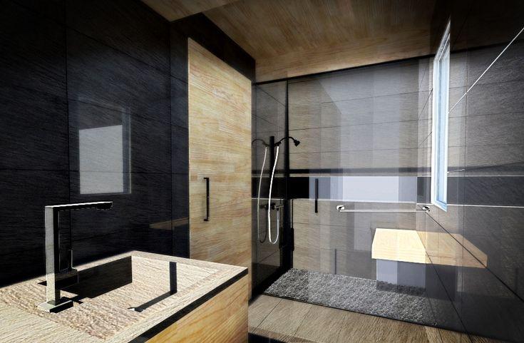 Zen pool bathroom design. Modern interior design by New York interior designer Jared Epps. Jaredshermanepps.com