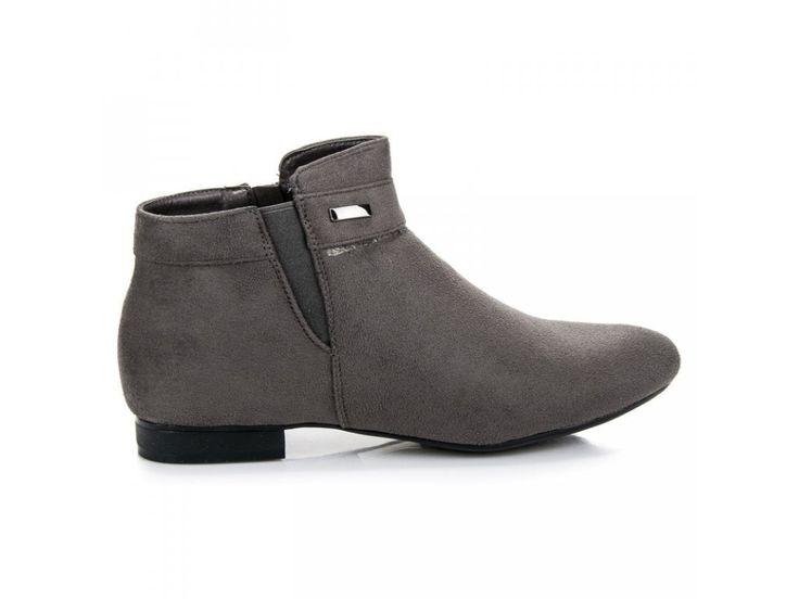 Členkové topánky sivé Vinceza