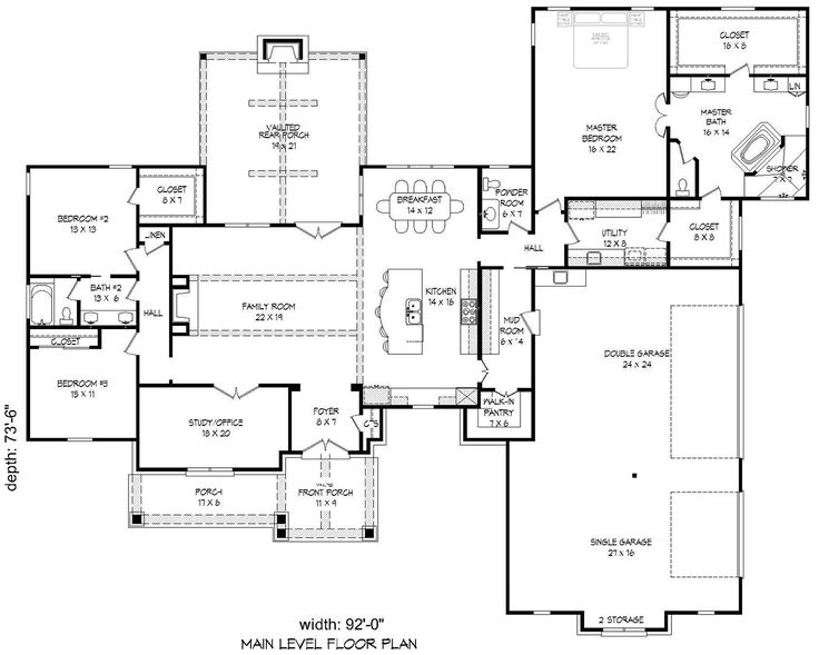 House Plans Floor Plans 10051 Pinterest