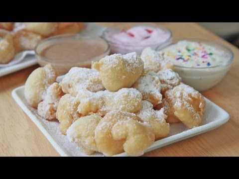 Easy Funnel Cake Bites Recipe & Toppings | Divas Can Cook