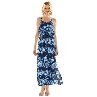 LC Lauren Conrad Floral Popover Maxi Dress - Women's