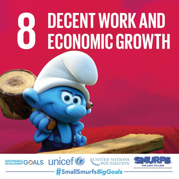 Every Smurf and every human needs decent economic opportunities to lead a happy life. Join #TeamSmurfs and visit SmallSmurfsBigGoals.comto learn more.  #SmallSmurfsBigGoals #TeamSmurfs