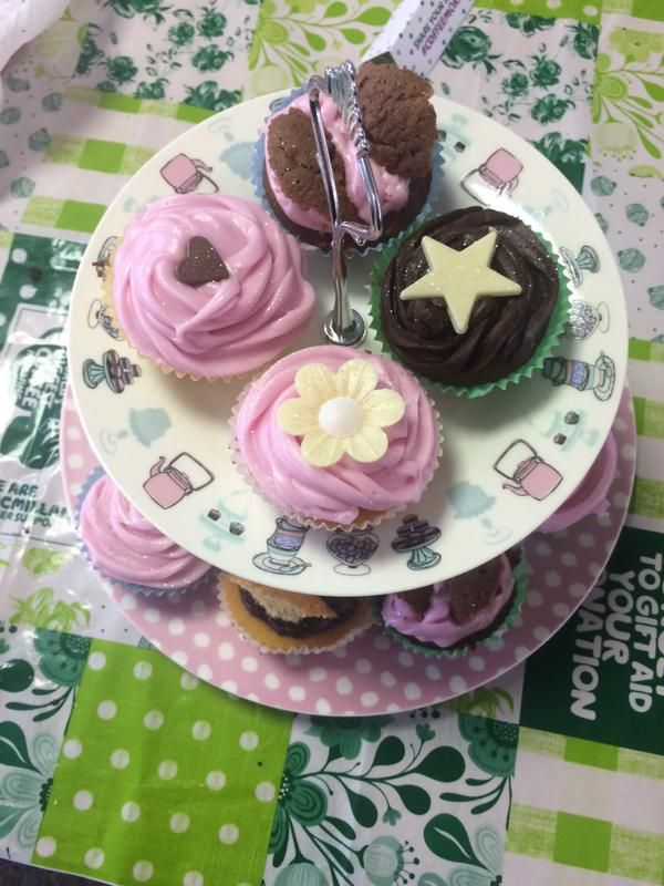 Cupcakes on offer at our Macmillan Cancer Support coffee morning