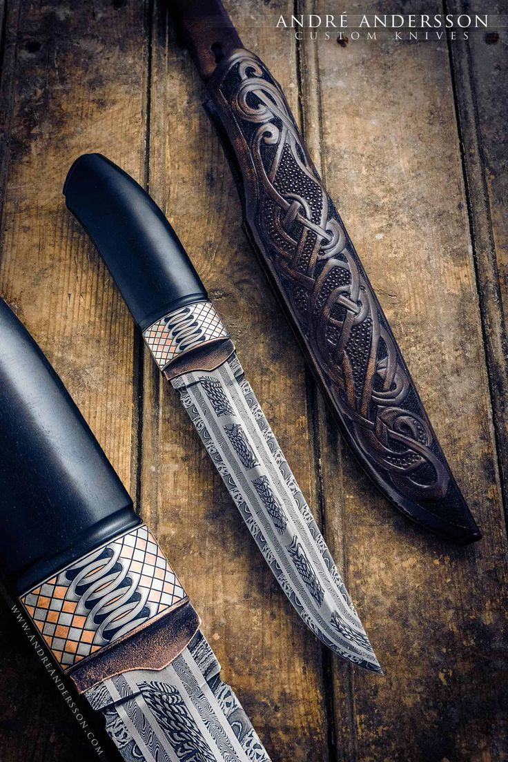 Dark Norse and Ebony square | André Andersson Custom Knives