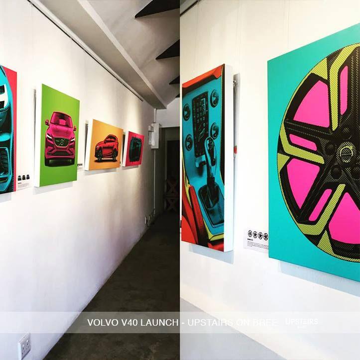Volvo V40 Launch at Upstairs on Bree  #volvo #art #upstairsonbree #event #artwork #design #decor #volvov40 #car