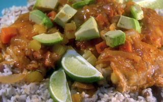Slow cooker chipotle-lime chicken thighs with Jamaican rice and peasrecipe - from the Reshelle's Cookbook Family Cookbook