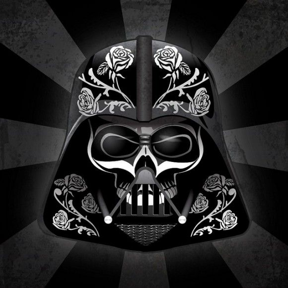 Darth Vader Sugar Candy Skull.  The linked website also has candy skull designs for Boba Fett, C3-PO, R2D2, Princess Leia, and Storm Trooper