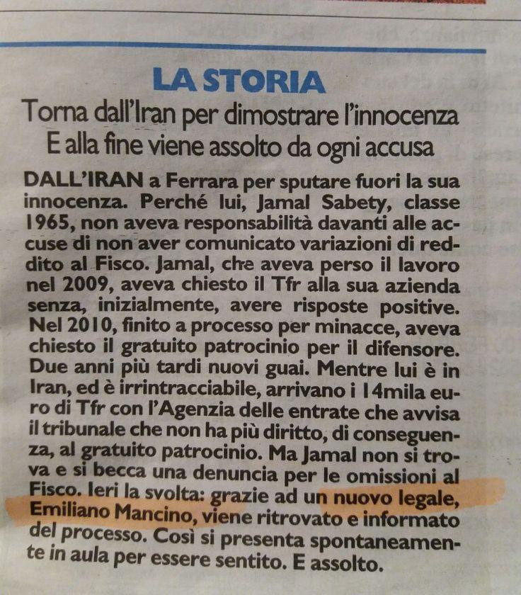 #Tribunale #Penale #Ferrara #Falso #Assoluzione #StudioLegaleMancino #Avv.EmilianoMancino