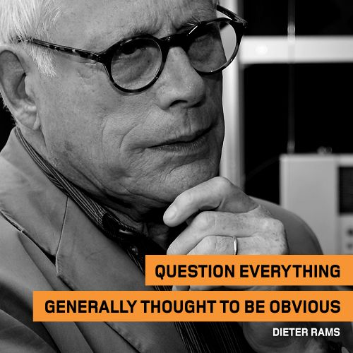 This week's #ThoughtOfTheWeek for the 30th of March 2015 comes from industrial designer, Dieter Rams.  #Quote #Creative #Thoughts
