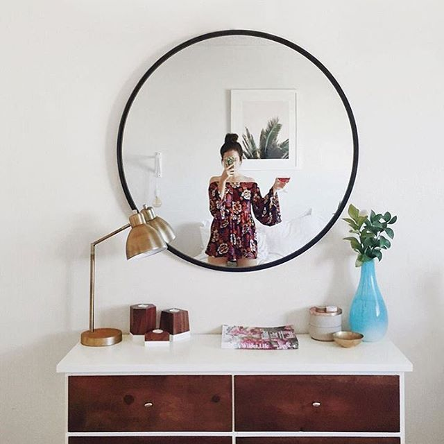 Flea market finds paired with the Umbra HUB mirror. Styling and photography by @ariellevey.