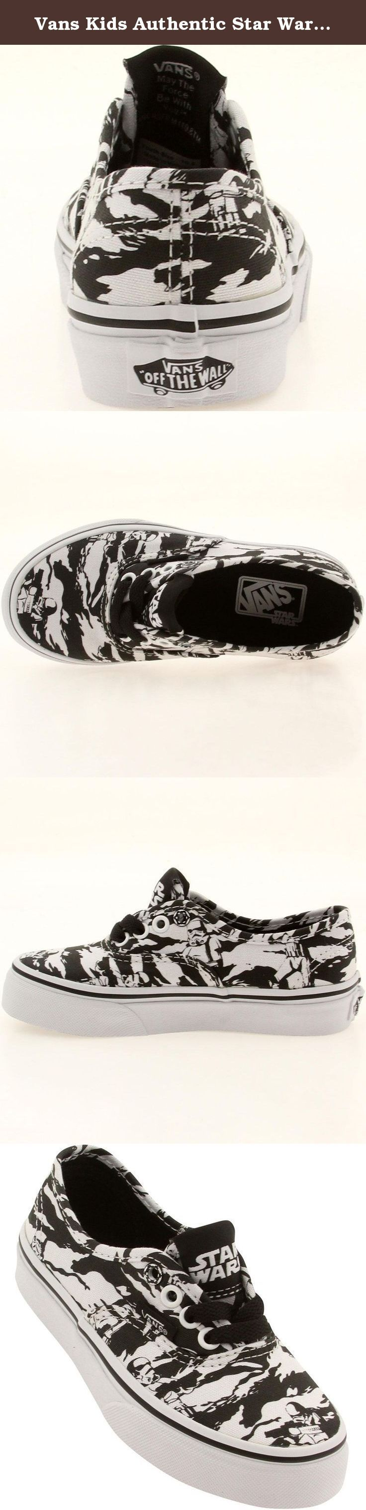 Vans Kids Authentic Star Wars Dark Side Storm Trooper Camo Sneakers Shoes. Vans Kids Authentic Star Wars Dark Side Storm Trooper Camo Sneakers Shoes.