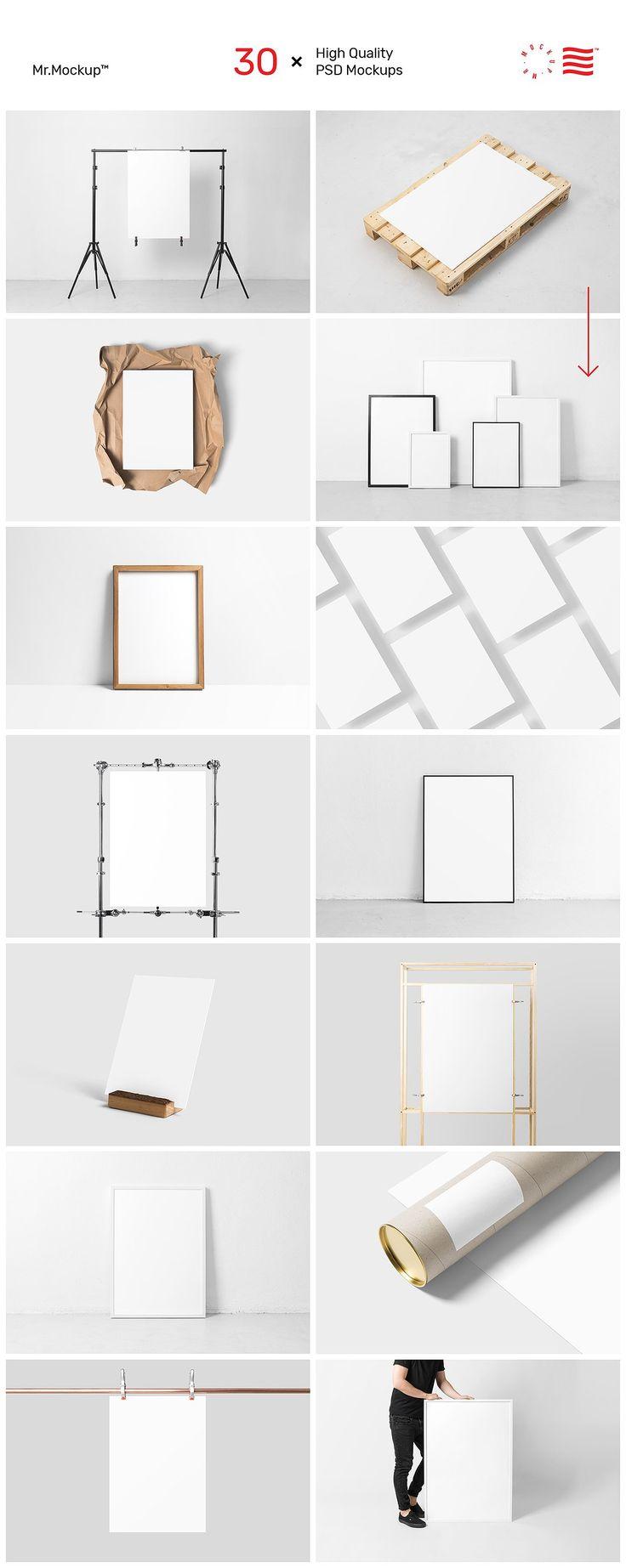 Poster Mockups - Studio Scene by Mr.Mockup™ on @creativemarket