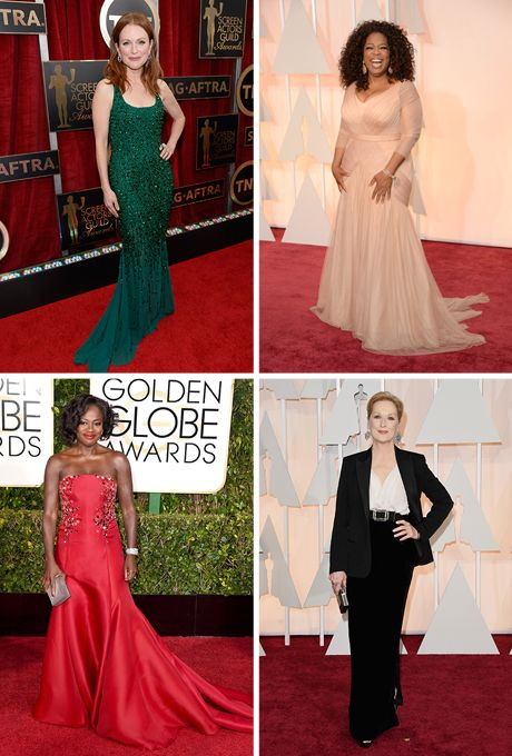 Red carpet mother of the bride dresses