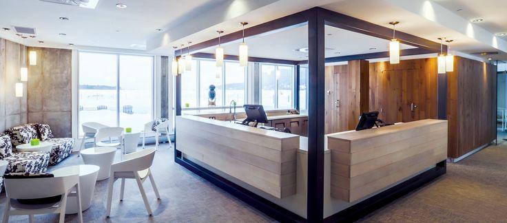 LEMAYMICHAUD | Quebec | Architecture | Interior Design | Spa | Lobby | Seating | Light | Wood