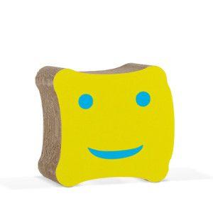 Dětská kartonová židle Biscotto Yellow