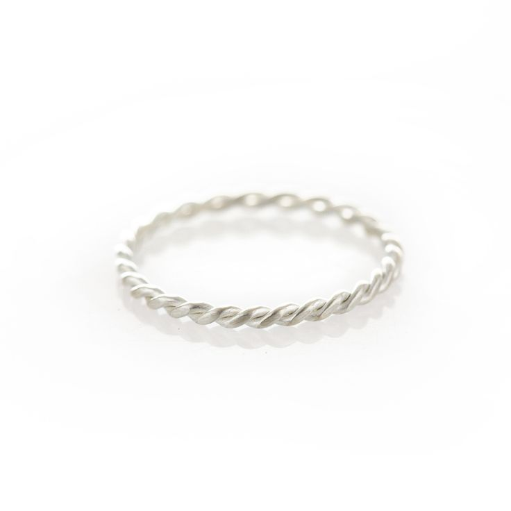 Dear Rae Jewellery   Silver rope ring. A think twisted sterling silver ring.