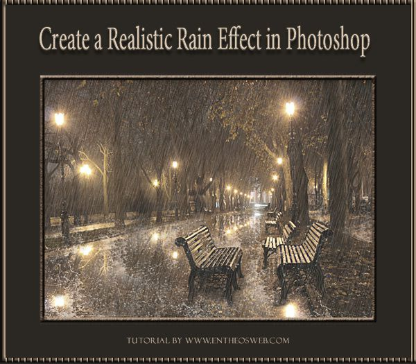 this is so neat  how to add rain to your photos
