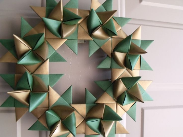 2 DIFFERENT COLOR STRIPS INTERWOVEN/ GOLD AND GREEN