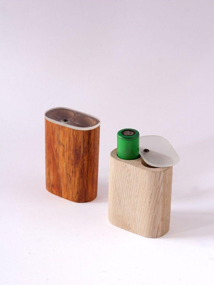 #Artigiano:La Bottega di Giano Utile#Battery case 18650 in #legno. Ottimo #gadget consigliato ai#Vapers